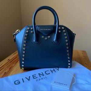 Givenchy Black Mini Antigona Bag with Gold Studs